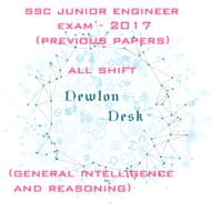 SSC Junior Engineer Exam-2017 All Shift (General Intelligence and Reasoning)