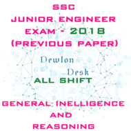 SSC Junior Engineer Exam-2018 All Shift (General Intelligence and Reasoning)