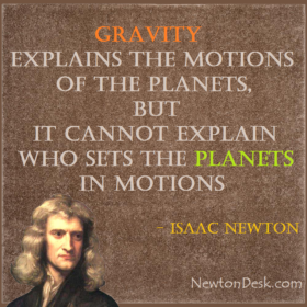 Gravity Explains The Motions