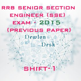 RRB Senior Section Engineer Exam 2015 Shift-1