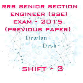 RRB Senior Section Engineer Exam 2015 Shift- 3