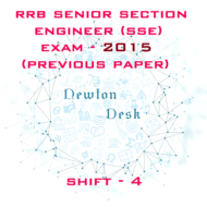RRB Senior Section Engineer Exam Paper 2015 Shift- 4