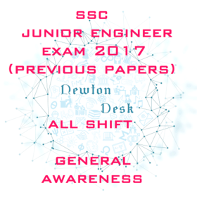 SSC Junior Engineer Exam 2017 All Shift (General Awareness)