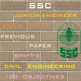 SSC Junior Engineer Exam Paper-2017 Shift-1 (Civil Engineering)