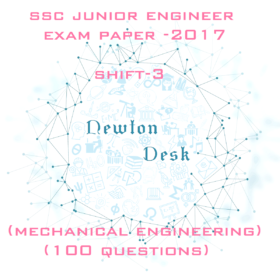 SSC Junior Engineer Exam Paper 2017 Shift-3 (Mechanical Engineering)