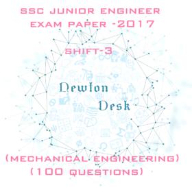 SSC Junior Engineer Exam Paper 2017 Shift-3 (Mechanical Engineering)