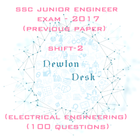 SSC Junior Engineer Exam Paper-2017 Shift-2 (Electrical Engineering)