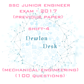SSC Junior Engineer Exam -2017 Shift-4 (Mechanical Engineering)