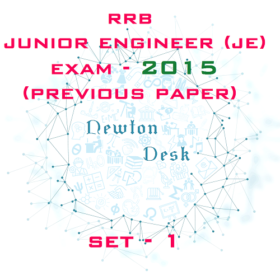RRB Junior Engineer Exam Paper 2015 Set-1