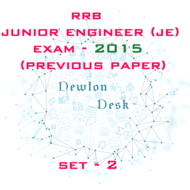 RRB Junior Engineer Exam Paper 2015 Set-2