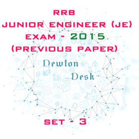 RRB Junior Engineer Exam Paper 2015 Set-3