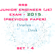 RRB Junior Engineer Exam Paper 2015 Set-4