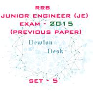 RRB Junior Engineer Exam Paper 2015 Set-5