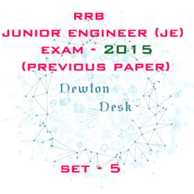 RRB Junior Engineer Exam Paper 2015 Set-5