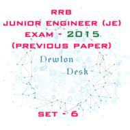 RRB Junior Engineer Exam Paper 2015 Set-6