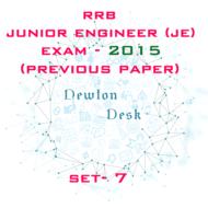 RRB Junior Engineer Exam Paper 2015 Set-7