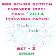 RRB Senior Section Engineer Exam Paper 2014 Set-2