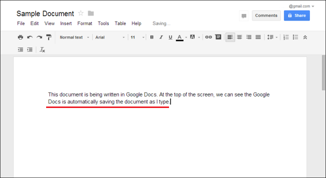 auto save document in google docs