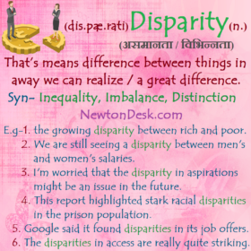 Disparity Meaning – A Great Difference