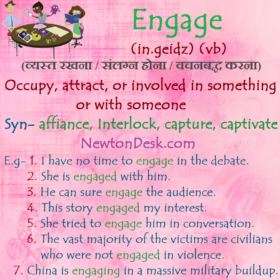 Engage Meaning – To Be Involved In Something