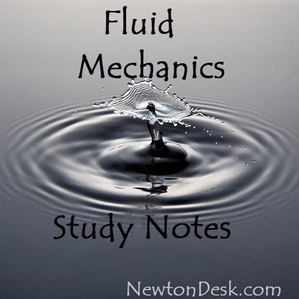 Fluid Mechanics Study Notes (Hand Written)