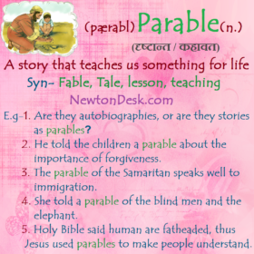 Parable – A Story That Teaches Us Something For Life