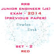 RRB Junior Engineer Exam Paper 2014 Set-2