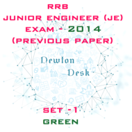 RRB Junior Engineer Exam Paper 2014 Set-1