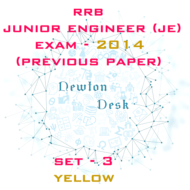RRB Junior Engineer Exam Paper 2014 Set-3