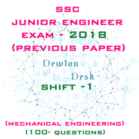 SSC Junior Engineer Exam Paper 2018 Shift-1 (Mechanical Engineering)