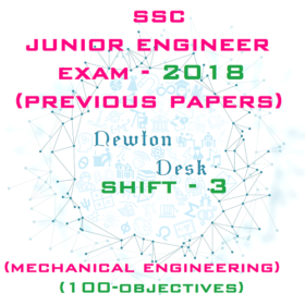 SSC Junior Engineer Exam Paper 2018 Shift-3 (Mechanical Engineering)