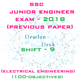 SSC Junior Engineer Exam Paper 2018 Shift-9 (Electrical Engineering)