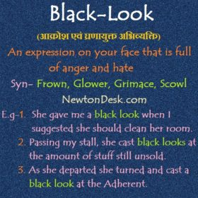 Black Look – Expression of Anger and Hate