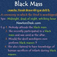 Black Mass – Ceremony In Which The Devil Is Worshipped