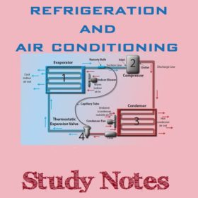 Refrigeration And Air Conditioning Study Notes (Hand Written)