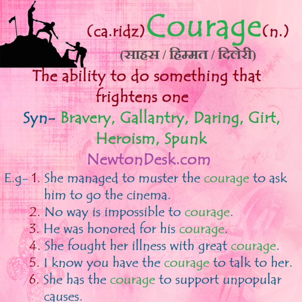Courage Meaning – The Ability To Do Something