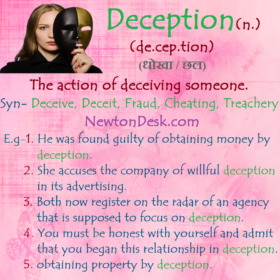 Deception – The Action of Deceiving Someone