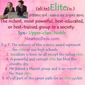 Elite – Best-Trained Group In A Society