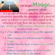 Mirage – When Hot Air Distorts Reflections of Distant Objects