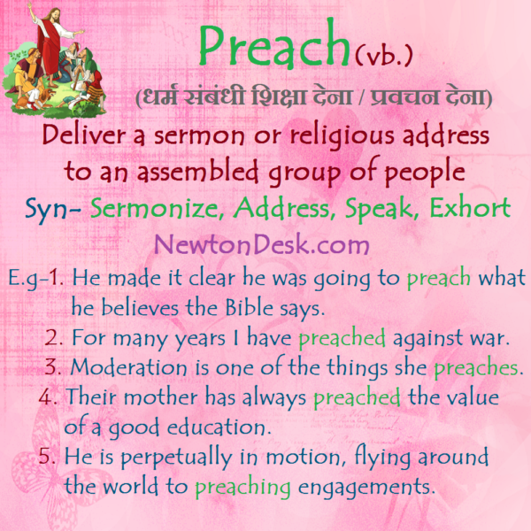 Preach – Deliver A Sermon To An Group Of People