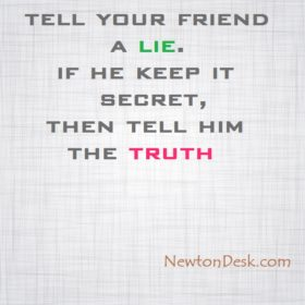 Tell Your Friend A Lie