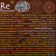 Rhenium Re (Element 75) of Periodic Table