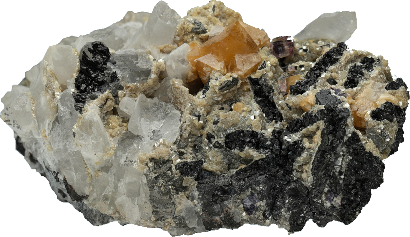 Scheelite Ferberite Fluorite