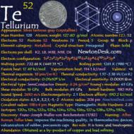 Tellurium Te (Element 52) of Periodic Table