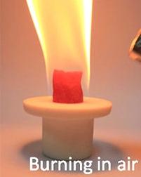 Scandium Burn in air