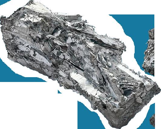 Crystalline zinc