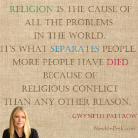 Religion Is The Cause Of All The Problem