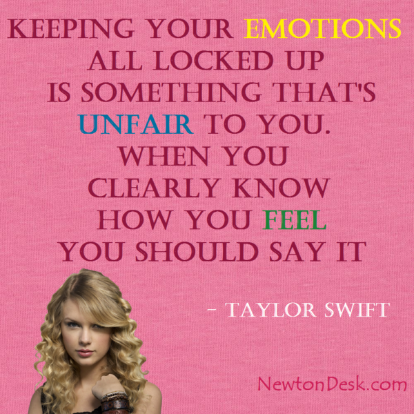 Keeping Your Emotions All Locked Up By Taylor Swift