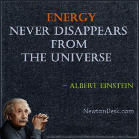 Energy Never Disappears From The Universe