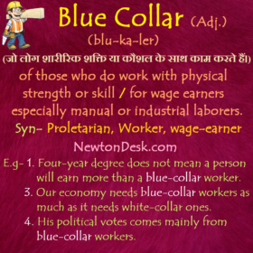 Blue Collar – Work With Physical Strength or Skill